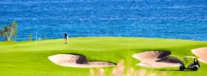 Oceanside Side green hole 7 Puerto Los Cabos Golf course Questro Golf Cabo San Lucas