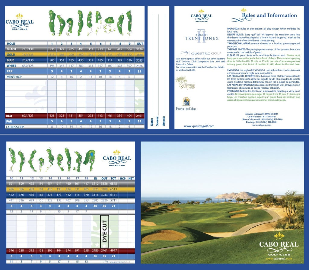 Cabo Real Scorecard Cabo San Lucas cabo real slope rating