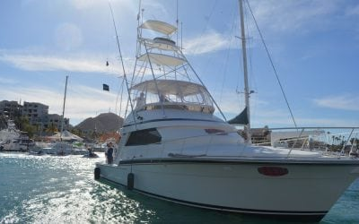 46ft Bertram Oh So Rojo sport fisher by redrum sports fishing cabo san lucas